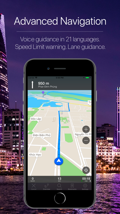 Vietnam Offline Navigation Screenshot