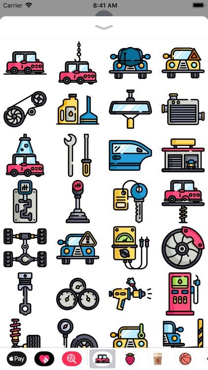Car Mechanic Stickers