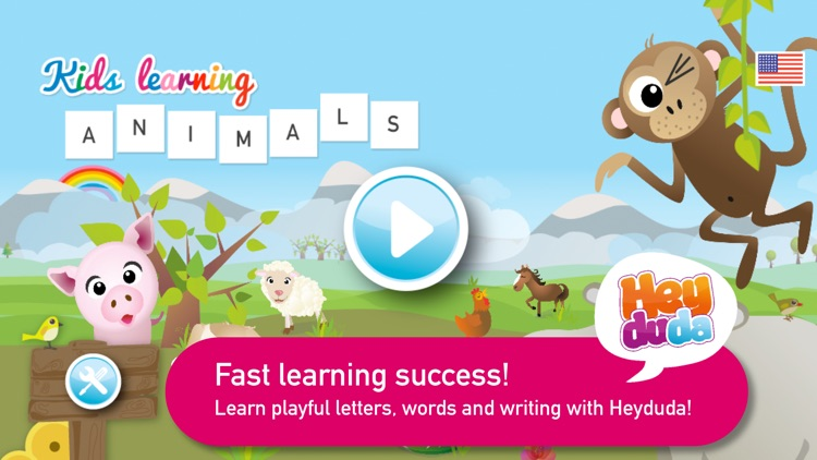 Kids learning ANIMAL WORDS screenshot-4