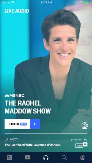 msnbc tv live audio stream