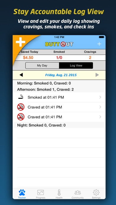Butt Out - Quit Smoke Now & Stop Smoking Forever screenshot