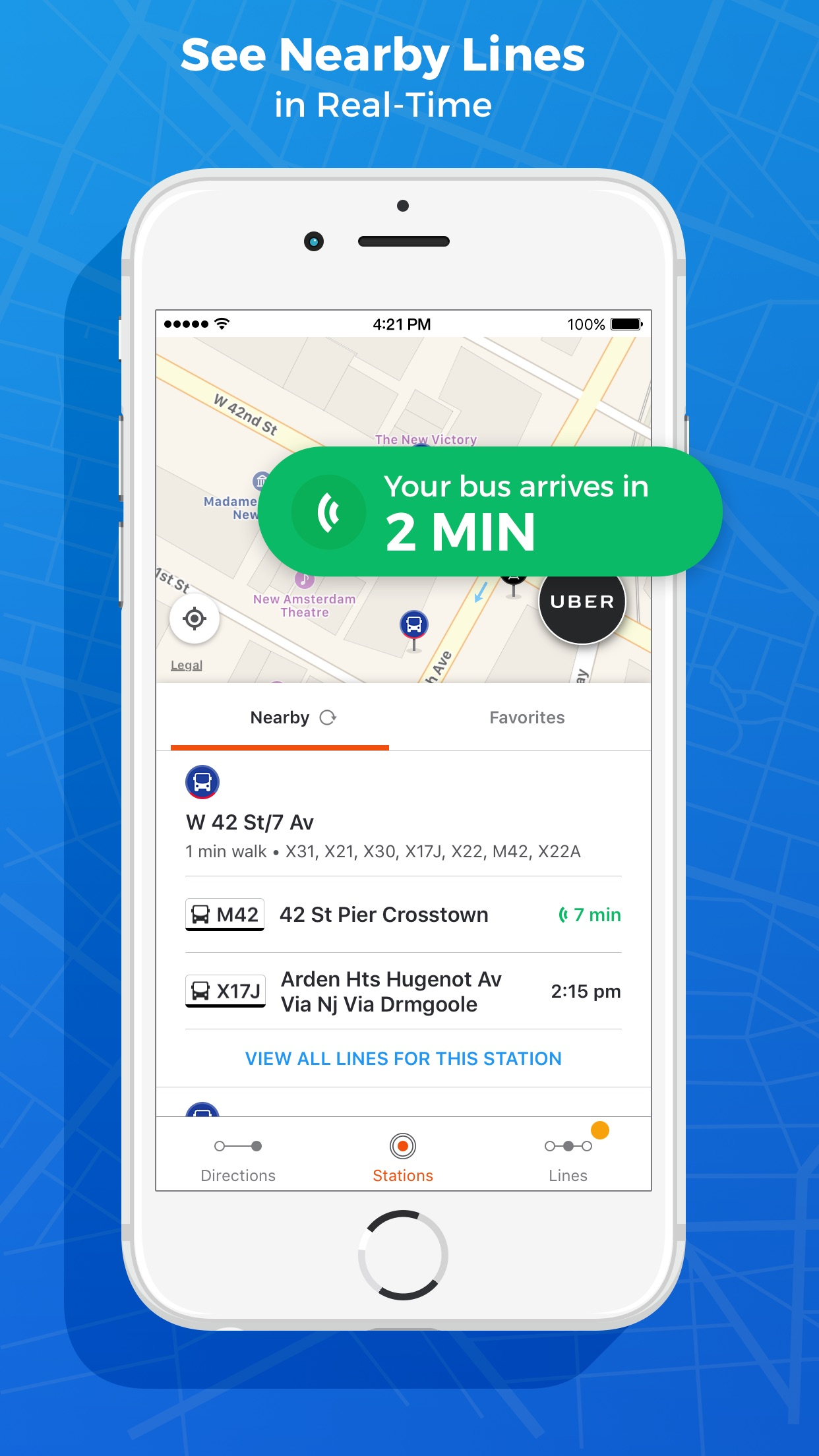 Public Transit App: Moovit Screenshot