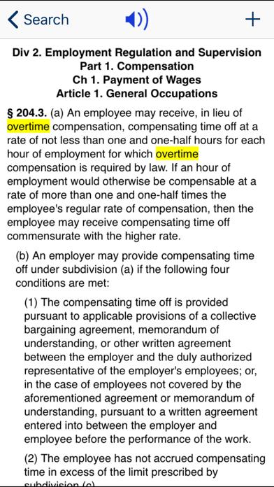 CA Labor Code 2019 screenshot three