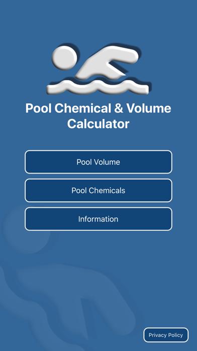 Pool Chemical & Volume Calc screenshot one