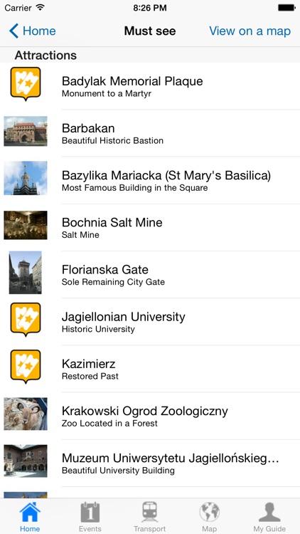 Krakow Travel Guide Offline screenshot-3