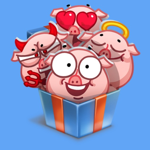 pigSTiK stickers for iMessage