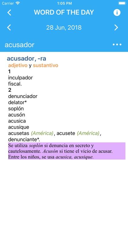 VOX Spanish Language Thesaurus