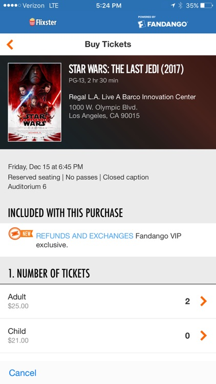 Flixster - Showtimes + Tickets