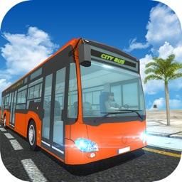 City Tour Coach Bus Driving