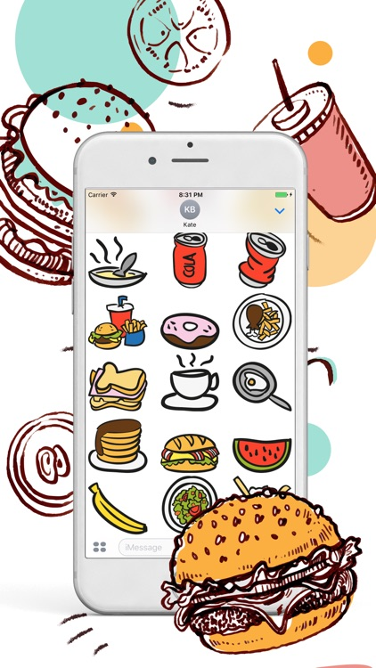 Food Bank For Food Lover Stickers screenshot-3