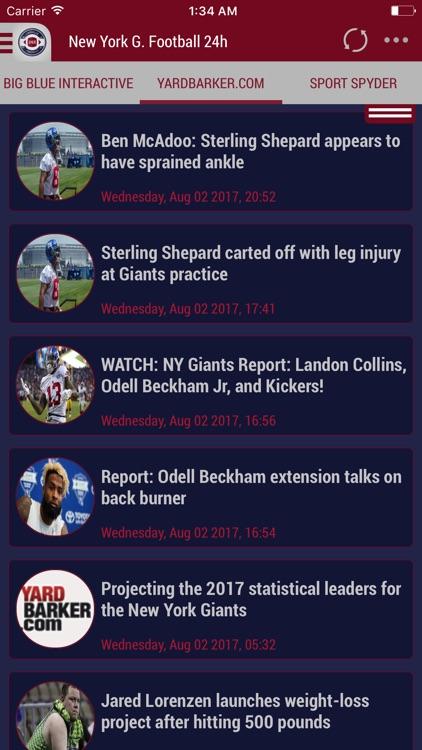 24h News for New York Giants