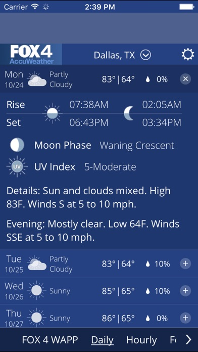 Screenshot for FOX 4 KDFW WAPP in United States App Store