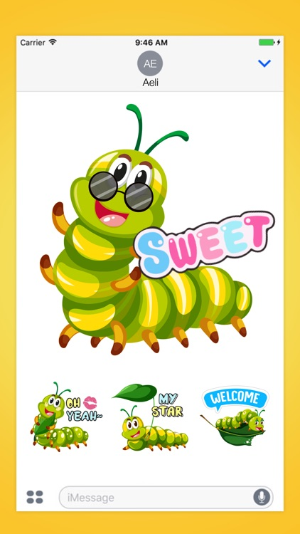 Caterpillar Crawling Stickers Pack