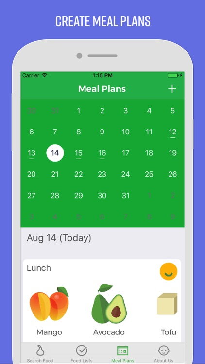 baby meal planner food guide by multimension inc
