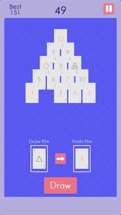 Endless Pyramid Solitaire screenshot 4