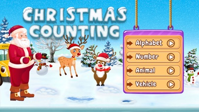 Santa Run - Learning FlashCard screenshot 1