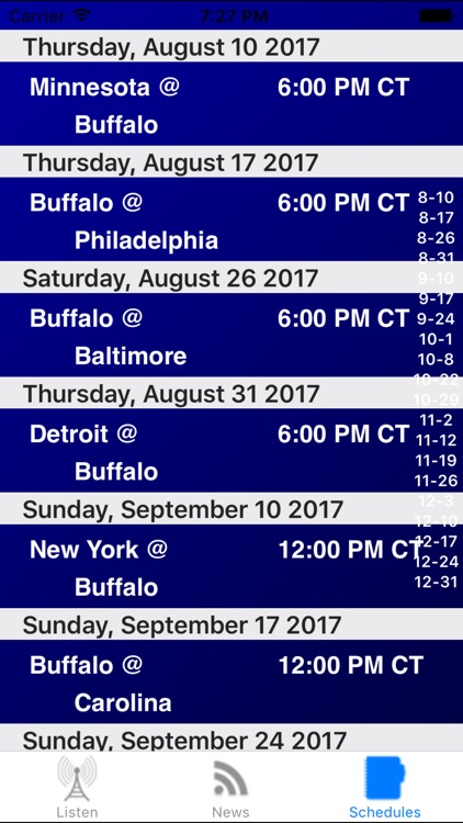 Buffalo Football Live - Radio, ,Schedule, News