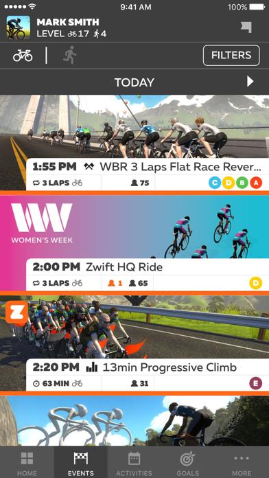 Zwift Companion - App - iOS me