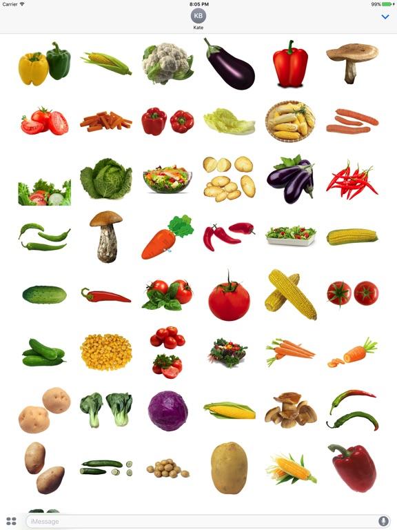 Veggie Stickers for iMessage screenshot 4