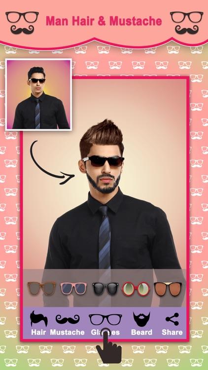 Men Hair Style Mustache Photo Editor