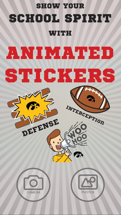 Iowa Hawkeyes Animated Selfie Stickers