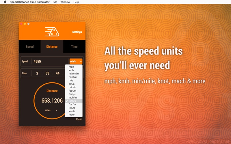 Speed Distance Time Calculator Screenshot