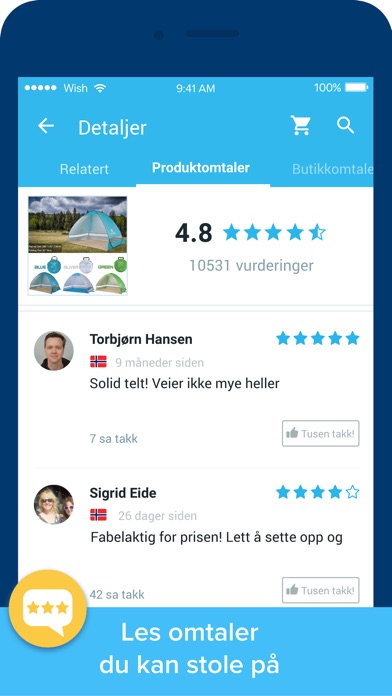 Screenshot for Wish - Shopping er blitt moro in Norway App Store