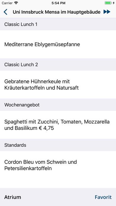 uibk Canteens - Innsbruck Screenshot