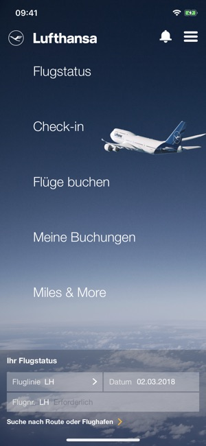 Lufthansa Screenshot