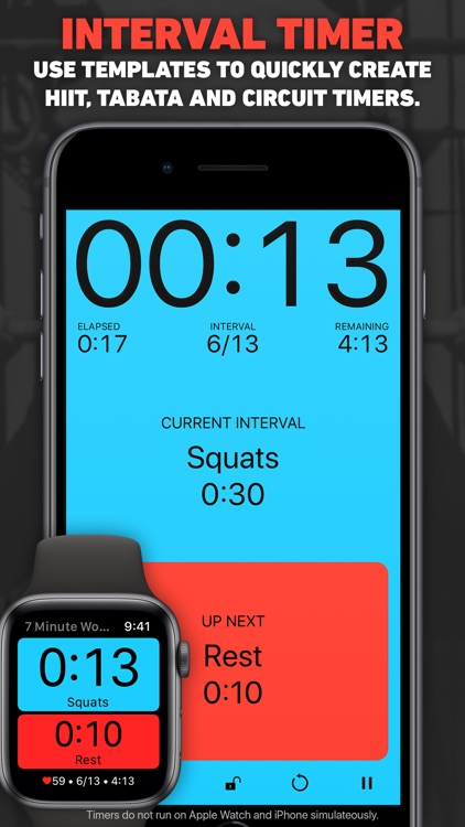 Seconds Interval Timer HIIT