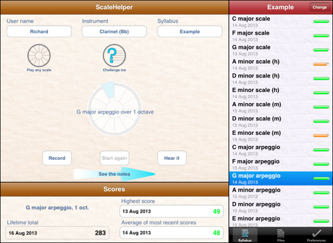 ScaleHelper for iPad - náhled