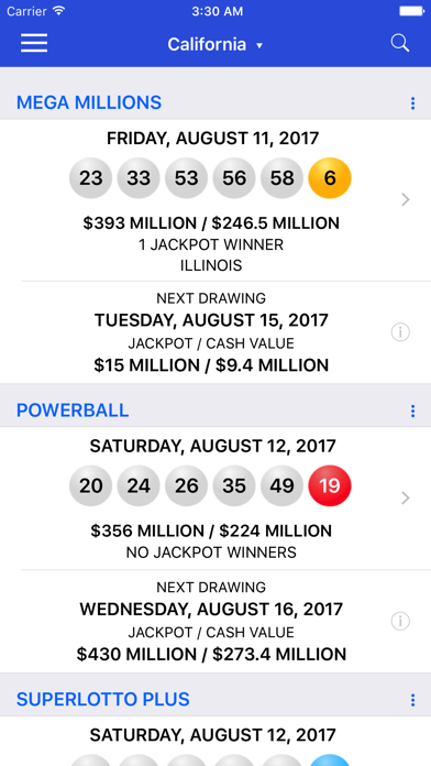 download Lotto Results + Lottery in US apps 0