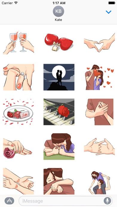 LoveMoji Signs of Love Sticker screenshot 2