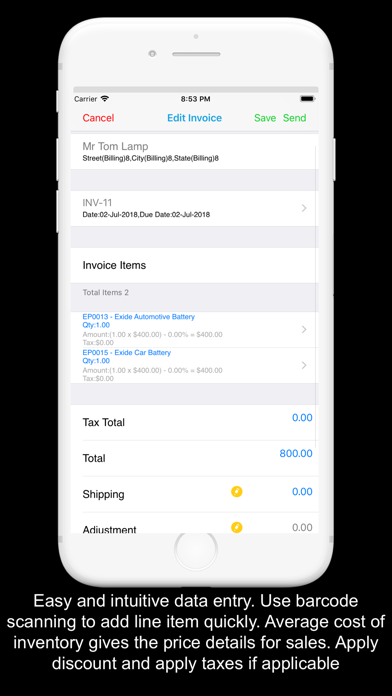 Kite Invoice Inventory Quotes screenshot four
