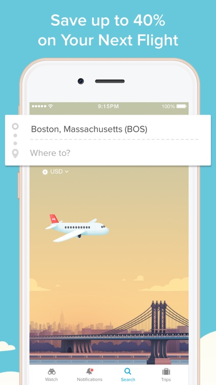 Hopper - Watch & Book Flights screenshot-0
