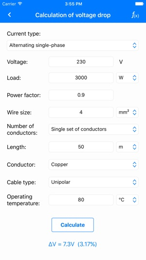 Electrical calculations lite on the app store greentooth Choice Image