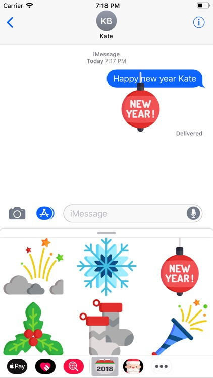New Year 2018 Stickers Pack screenshot-4