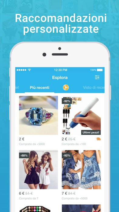 Screenshot for Wish - Lo shopping divertente in Italy App Store