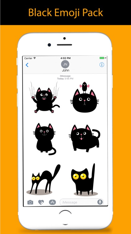 Black Cat Sticker for iMessage