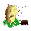 Happy Life Of Hedgehog Sticker