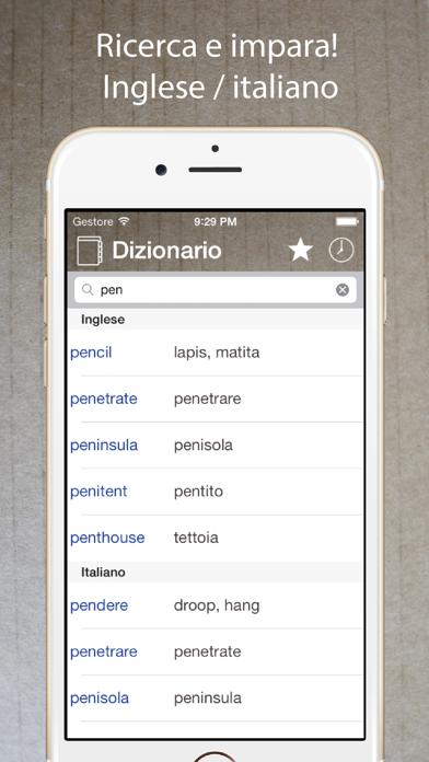 Screenshot of Dizionario Inglese Italiano ++1