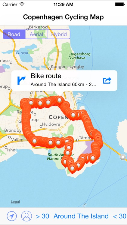 Copenhagen Cycling Map
