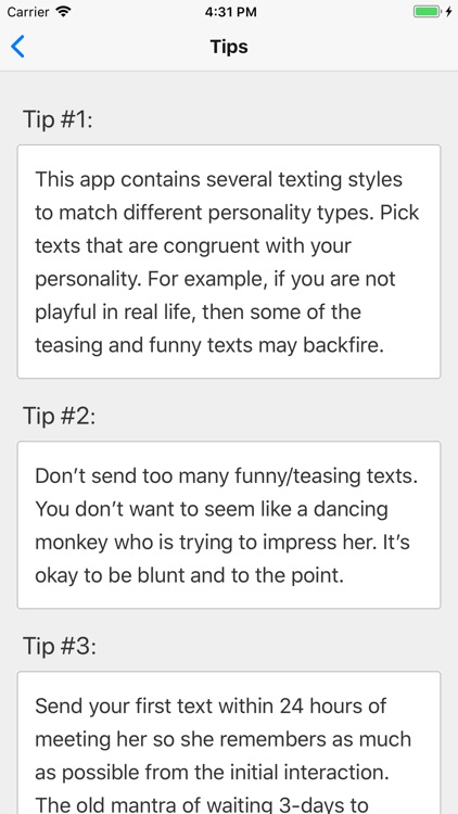 Texting Girls Guide