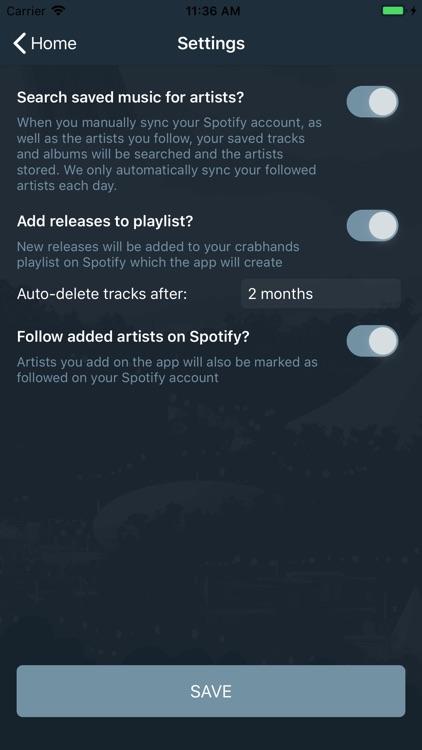 crabhands: new music/festivals screenshot-7