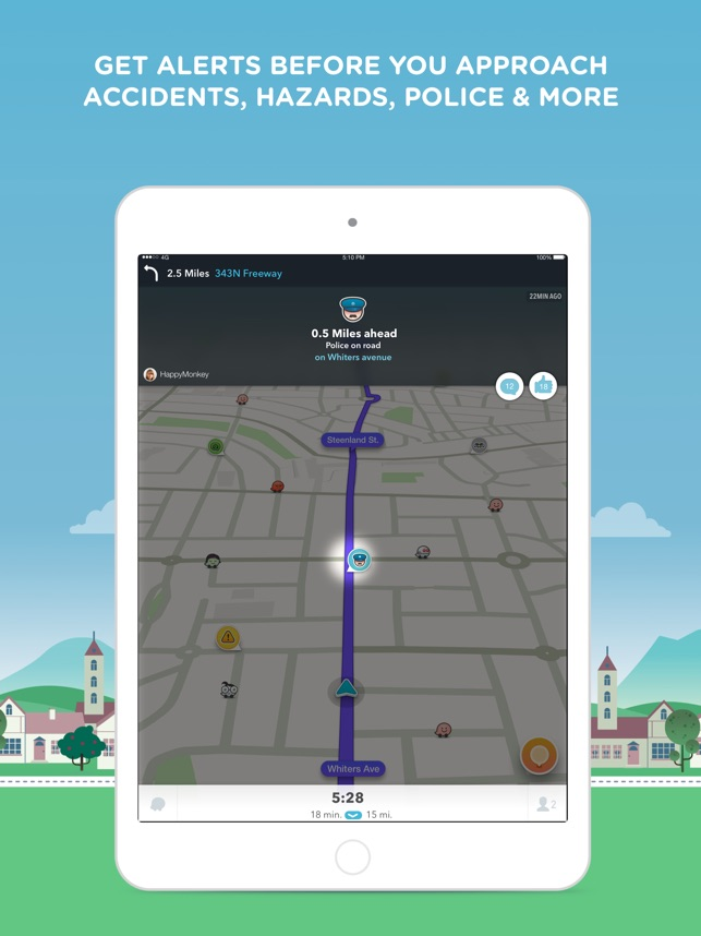 Waze Navigation u0026 Live Traffic on