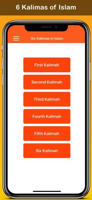 six kalma of islam