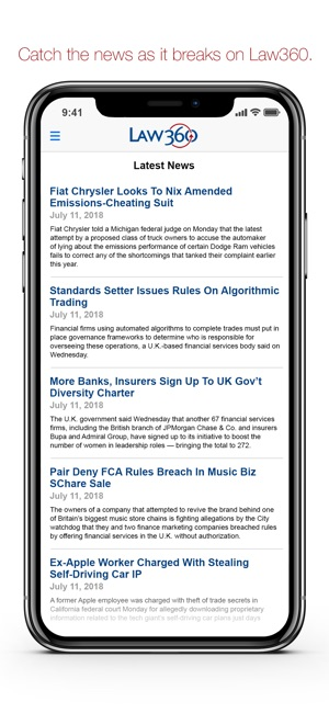 Law360 Legal News & Analysis on the App Store