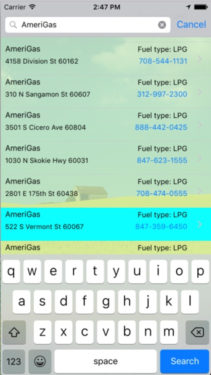 Chicago Green Fuel Finder
