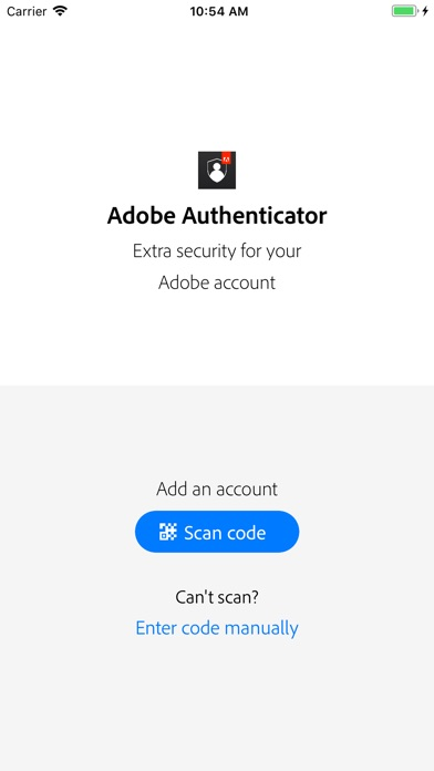 Adobe Authenticator screenshot 1