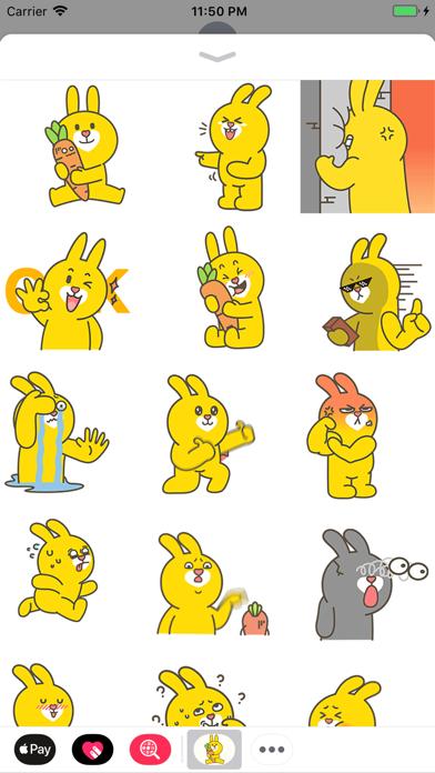 Yellow Bunny Animated Stickers screenshot one